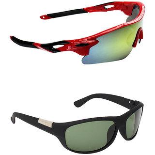 Zyaden Combo of 2 Sunglasses Sport and Wraparound Sunglasses- COMBO 2714