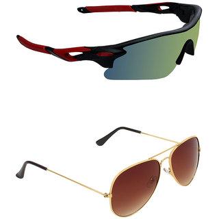 Zyaden Combo of 2 Sunglasses Sport and Aviator Sunglasses- COMBO 2726