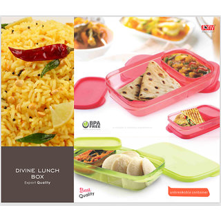 Divine Lunch Box Export Quality Microwave Safe / BPA Free