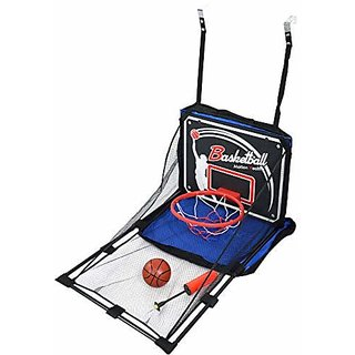 IRIS Arcade Basketball Hoop Game - Single Shot Indoor Shooting System with Mini Hoop Ball and Pump for Kids