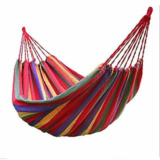 IRIS Double Wide Hammock Cotton Soft Woven Bed for Supreme Comfort Fabric Travel Camping Hammock 2 Person for Backyard Porch Outdoor or Indoor Use