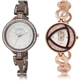 The Shopoholic Silver Combo Fashionable Funky Look Silver Dial Analog Watch For  Girls Watch For Womens