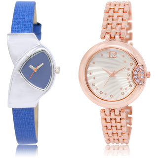 The Shopoholic Blue Silver Combo New Collection Blue And Silver Dial Analog Watch For  Girls Stylish Watch For Women