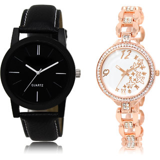 The Shopoholic Black White Combo Latest Fashionable Black And White Dial Analog Watch For  Boys  And  Girls Love Watch