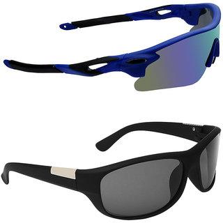 328b54402 Buy Zyaden Combo of 2 Sunglasses Sport and Wraparound Sunglasses- COMBO  2816 Online - Get 64% Off
