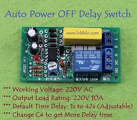 E102 AC 220V Mains Auto Power OFF Time Delay 10A Relay Switch Module Board