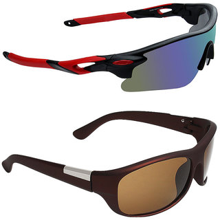 fb5cdbdde6c2 Zyaden Combo of 2 Sunglasses Sport and Wraparound Sunglasses- COMBO 2840
