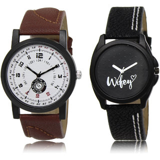 The Shopoholic White Black Combo New Stylist Latest White And Black Dial Analog Watch For  Boys  And  Girls Watch For Boys