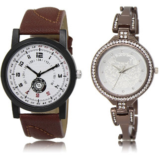 The Shopoholic White Silver Combo Fashionable Fancy Collection  White And Silver Dial Analog Watch For  Boys  And  Girls New Watches For Men