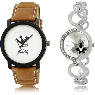 The Shopoholic White Silver Combo Latest Fashionable White And Silver Dial Analog Watch For  Boys  And  Girls Watch For Boys & Girls
