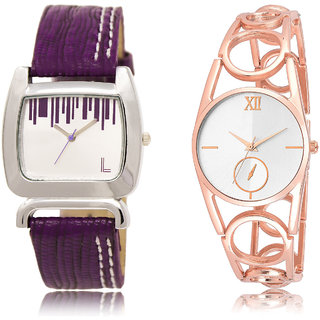 The Shopoholic Silver Combo New Stylist Latest Silver Dial Analog Watch For  Girls Watch Light