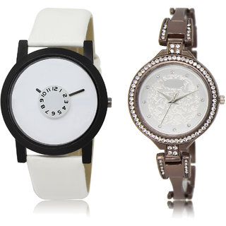 The Shopoholic White Silver Combo Fashionable Fancy Collection  White And Silver Dial Analog Watch For  Boys  And  Girls Watches For Men Formal