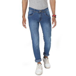 Campus Bunny Men's Slim fit Jeans Blue Jeans Branded Jeans Faded Blue Jeans