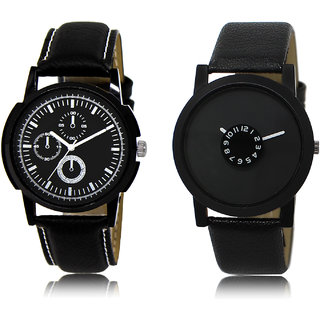The Shopoholic Black Combo Latest Fashionable Black Dial Analog Watch For  Boys Mans Watches