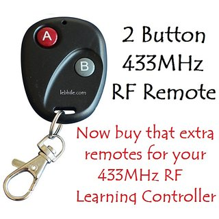 E104 RF Remote Control Transmitter for 433MHz Learning Switches and Controllers