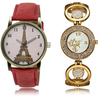 The Shopoholic Pink White Combo Fashionable Fancy Collection  Pink And White Dial Analog Watch For  Girls Woman Watchs