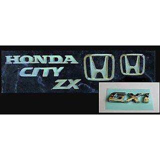 LOGO HONDA CITY ZX GXI MONOGRAM EMBLEM CHROME family pack