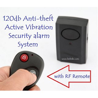 E48 Safe 120db Anti-Theft Security Alarm Vibration Activated Sensor with Remote