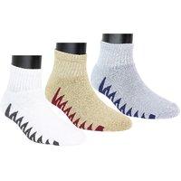 Neska Moda Men 3 Pair Multicolor Terry Cotton Ankle Length Socks S1074