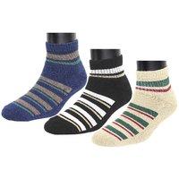 Neska Moda Women 3 Pair Multicolor Terry Cotton Ankle Length Socks S1043