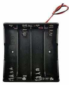 E111D Battery Holder Storage Case Slot for 4 x 18650 14.8v with both wire leads