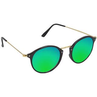 Austin Green Mirrored Round Unisex Sunglasses (RazGreenMrcy)
