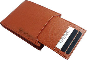 NewAge Men Tan Artificial Leather Wallet  (7 Card Slots)