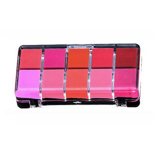 Futaba Cream Waterproof Lip Tint Palette With Brush - 10 Colours