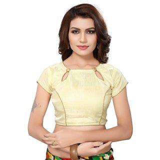Aika Womens Banglori Satin Readymade Blouse (B-Satin 3 CreamFree Size)
