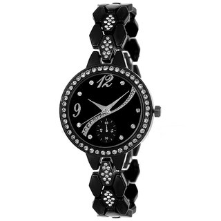 R P S fashion new looked to black and black girl  watch 6 month warranty