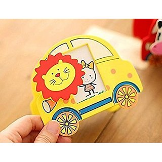 Buy Pen Stand With Photo Frame For Kids Birthday Return Gifts Attractive Car Shape Wooden Holder Cartoon Cutout Online