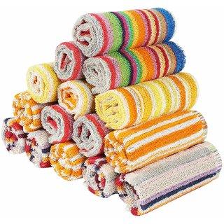 BEST QUALITY Smart Stripes pure Cotton Super Soft  Stylish Smart Face Towels for men  Women  Kids ( 10 pcs )
