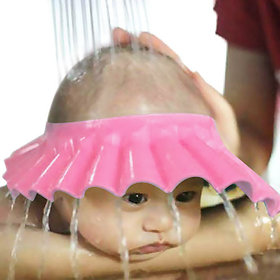 Futaba Adjustable Baby Shower Shampoo Cap - Pink