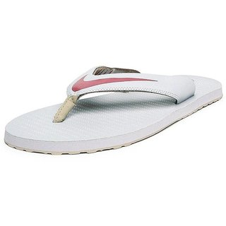 best service 86a40 50d82 Nike Men'S Chroma Thong 5 White Slippers