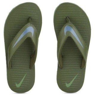 Nike Men'S Chrome Thong 5 Legion Green/Smokey Blue-Palm Green Flip Flops