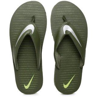 Nike Men'S Cargo Khaki/Chrome Flip-Flops