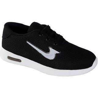 Zappy Kids Black Sports Shoes