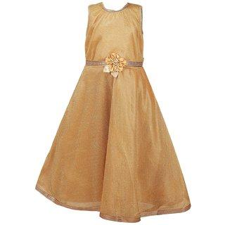 66b432aeef7 Buy Qeboo Cream Party Wear Sleeveless Beautiful Flayered Dress For Girl  Online - Get 75% Off