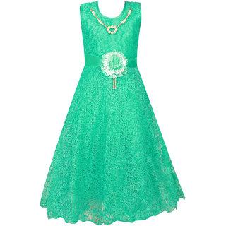 0b061831265 Buy Qeboo Green Party Wear Sleeveless Beautiful Flayered Dress For Girl  Online - Get 80% Off