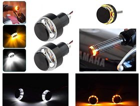 Bike Handle Bar Turn Signal Indicator Lights Blue Orange For All Bikes / Motorcycle / Scooter / Scooty- Universal Lights