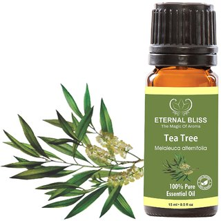 Eternal Bliss Tea Tree Essential Oil - Pure Natural Undiluted For Skin Care Hair Care(15 ML)