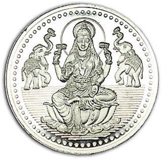Chahat Jewellers 100gms Silver Lakshmi Coin