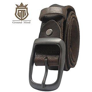 Akruti 100% Full Grain Leather Belts for Men Vintage Designer Belt