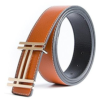 Akruti ECHAIN Luxury H Brand Designer Belts Men High Quality Male Casual Genuine Real Leather H Buckle Strap for Jeans Blue