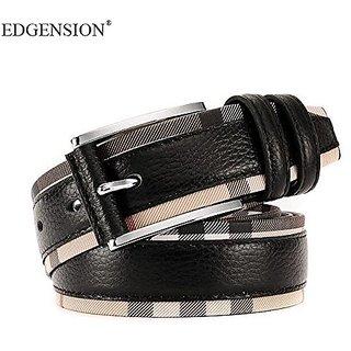Akruti Edgension New 2017 Spring Fashion Genuine Leather Patchwork Plaid Belts Women Men British Brand Original Waist Strap Accessories