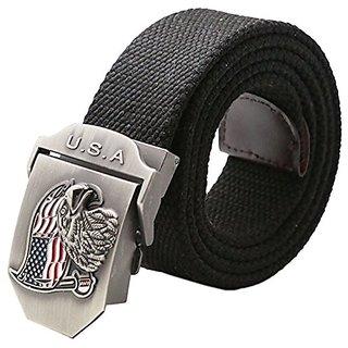 Akruti 2018 Special Offer Fashion Adult Canvas Belts For Men USA flag eagle Automatic Buckle Casual belts hawk Belt Adjustable Length