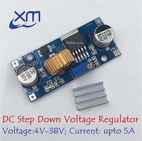 E129 DC 5A Step Down Module XL4015 Power Voltage Converter Regulator 4V-38V DC