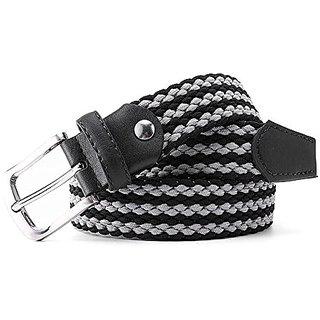 "Akruti Fashion Long Elastic Waist Belt Men Woven Elastic Belts 1-3/8"" or 35mm Wide Stretch Fabric Straps Knitted Belts For Men 5 Color"