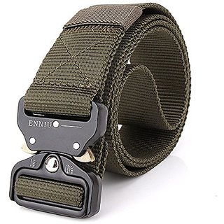 Akruti Best YBT Unisex Nylon belt Metal insert buckle military nylon Training belt Army tactical belts for Men Best quality male strap