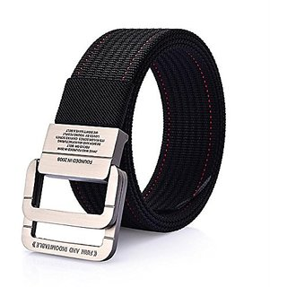 Akruti SupSindy mens canvas belt Alloy buckle Double ring nylon military belt Army tactical belts for Men top quality Male strap black